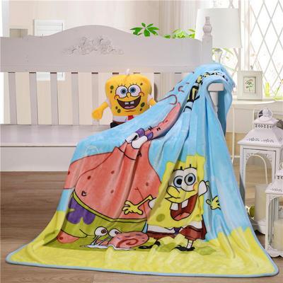 儿童单层法莱绒披肩毛毯子盖毯 100cmx140cm 派大星
