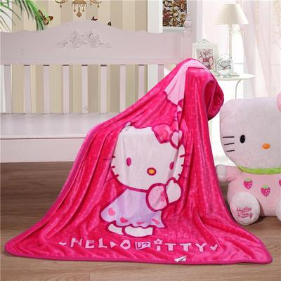 儿童单层法莱绒披肩毛毯子盖毯 100cmx140cm 气球KT