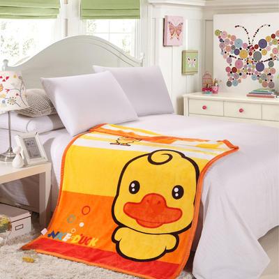 儿童双层法莱绒披肩毛毯子盖毯 100cmx140cm 大黄鸭