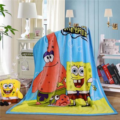 儿童双层法莱绒披肩毛毯子盖毯 100cmx140cm 派大星
