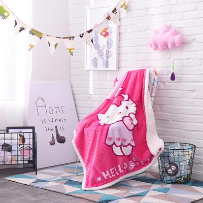 儿童双层羊羔绒披肩毛毯子盖毯 100cmx140cm 气球KT