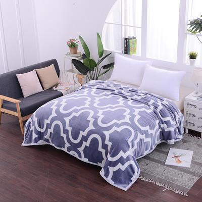 云貂绒加厚法莱绒毛毯子盖毯 70cmX100cm(折边花型随机) 魔镜