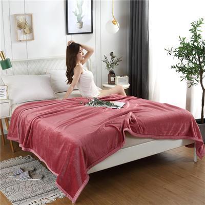 280g纯色金貂绒系列毛毯 120*200cm 藕粉