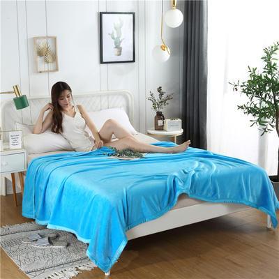 280g纯色金貂绒系列毛毯 120*200cm 天蓝