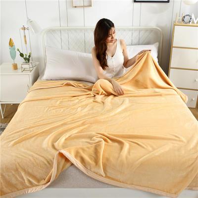 280g纯色金貂绒系列毛毯 120*200cm 驼色