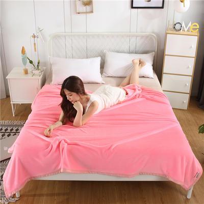 280g纯色金貂绒系列毛毯 120*200cm 玉色