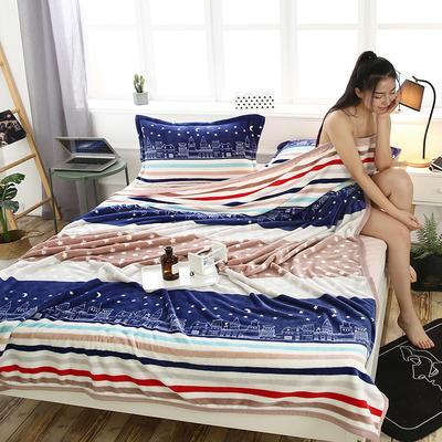 300g金貂绒系列加厚包边法莱绒盖毯毛毯子 150*200cm 爱的城堡