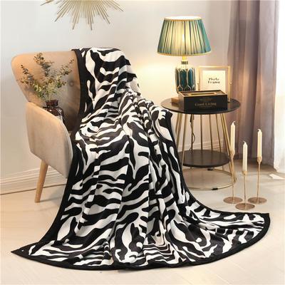 300g金貂绒系列加厚包边法莱绒盖毯毛毯子 120*200cm 斑马纹