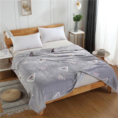 300g金貂绒系列加厚包边法莱绒盖毯毛毯子 150*200cm 大三角