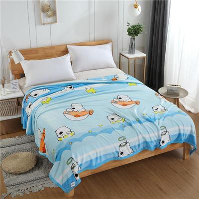 300g金貂绒系列加厚包边法莱绒盖毯毛毯子 150*200cm 可爱小熊
