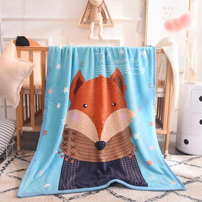 双层加厚云貂绒童毯 100*140cm双层 狐狸