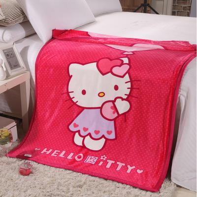 双层加厚云貂绒童毯 100*140cm双层 气球猫