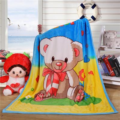 双层加厚云貂绒童毯 100*140cm双层 围巾小熊