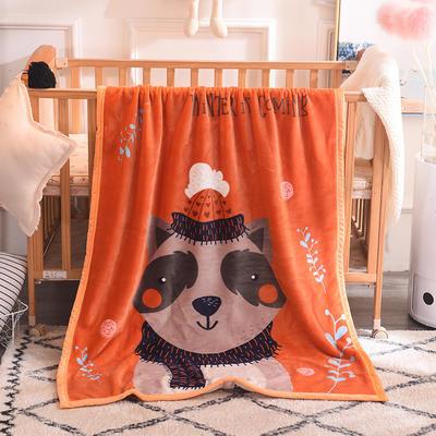 双层加厚云貂绒童毯 100*140cm双层 小浣熊