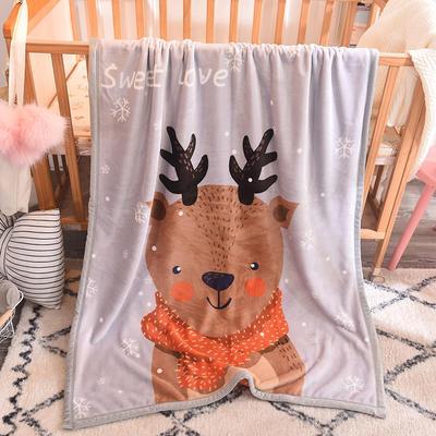 双层加厚云貂绒童毯 100*140cm双层 小鹿
