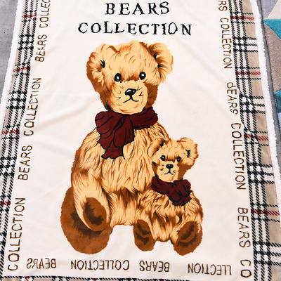 新款羊羔绒卡通毯 100*140cm羊羔绒 格子熊