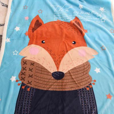 新款羊羔绒卡通毯 100*140cm羊羔绒 狐狸