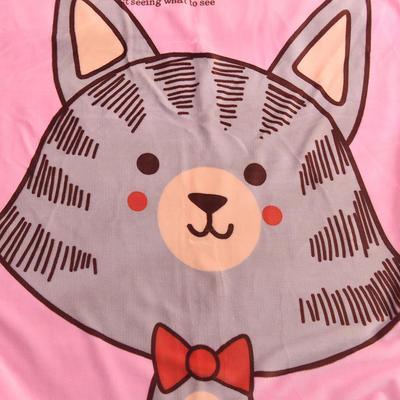 新款羊羔绒卡通毯 100*140cm羊羔绒 领结猫