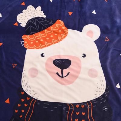 新款羊羔绒卡通毯 100*140cm羊羔绒 小白熊