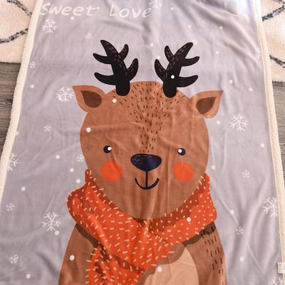 新款羊羔绒卡通毯 100*140cm羊羔绒 小鹿