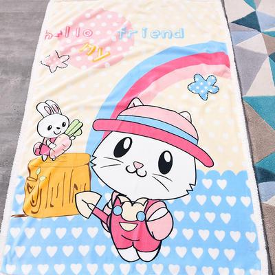 新款羊羔绒卡通毯 100*140cm羊羔绒 小猫咪