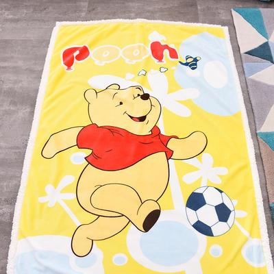新款羊羔絨卡通毯 100*140cm羊羔絨 足球維尼熊