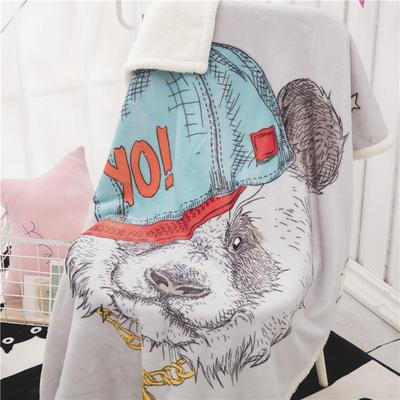 新款羊羔绒卡通毯 100*140cm羊羔绒 嘻哈熊