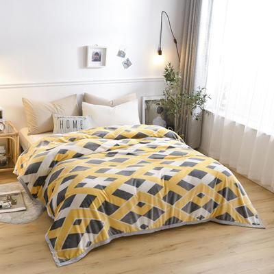 300g金貂绒系列加厚包边法莱绒盖毯毛毯子 150*200cm 卡斯诺