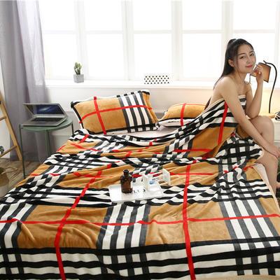 云貂绒加厚法莱绒毛毯子盖毯 120cmX200cm 巴宝莉