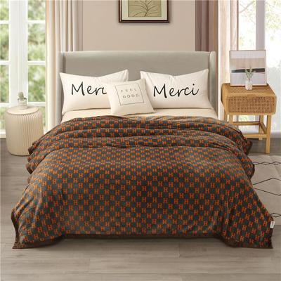 300g金貂绒系列加厚包边法莱绒盖毯毛毯子 150*200cm 爱趣