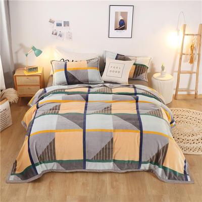 300g金貂绒系列加厚包边法莱绒盖毯毛毯子 150*200cm 塞纳河畔