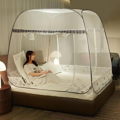 2019新款免安装蚊帐 1.5m(5英尺)床 树叶