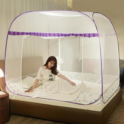 2019新款免安装蚊帐 1.5m(5英尺)床 羽毛紫