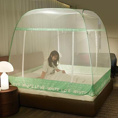 2019新款免安装蚊帐 1.5m(5英尺)床 运动风 绿