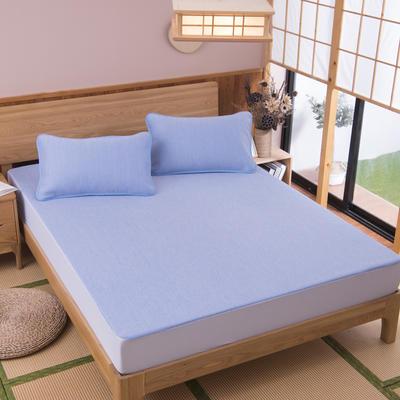 2019新款科技云母凉席 床单款0.9*2米(二件套) 彩云蓝