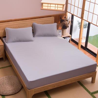 2019新款科技云母凉席 床单款0.9*2米(二件套) 条纹灰