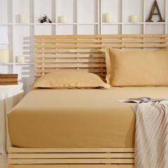 纯棉单品系列纯棉0.5锻格素色床笠 120*200 驼色