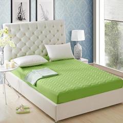 化纤单品系列化纤夹棉床笠 120*200 果绿色