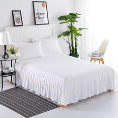 纯色单品系列 13372纯色单件床裙 120*200cm 白色