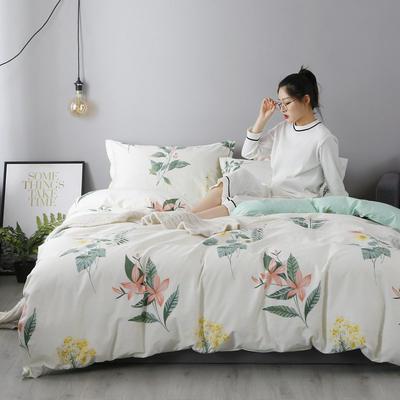 2019新款全棉印花被套 200*230cm 清新雅兰