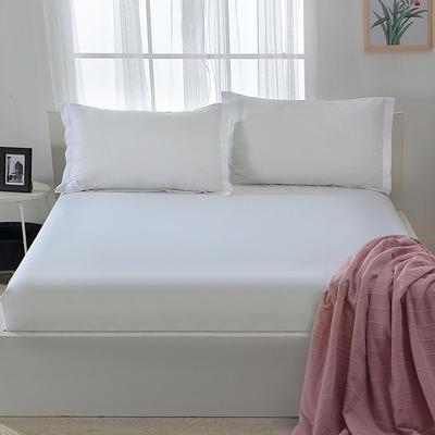 2019新款13372纯棉纯色床笠 100*200+30cm 白色