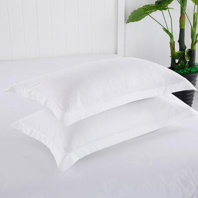 2019新款13372纯棉纯色枕套 48cmX74cm 白色