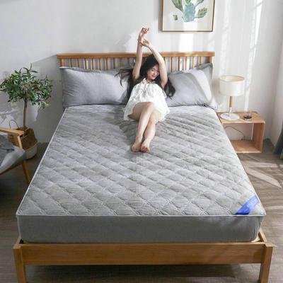 2019新款纯棉加厚水洗自由棉(夹棉)床笠 120*200+30侧高 巴塞罗那