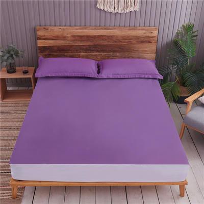 2019新款防水六面全包 枕套/对 防水-紫色