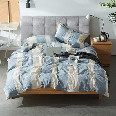 2019新款床笠款四件套 1.2m床床单款四件套 悠然-灰