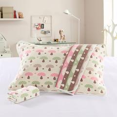 六层纱布枕巾 日式蘑菇  [ 50*80]