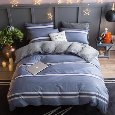 2018新款- 棉加法莱绒250克包边款四件套 床单款1.2m(4英尺)床 别样生活