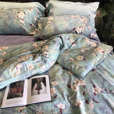 60支长绒棉印花四件套 标准(1.5m床-1.8m床) 茜丝莉