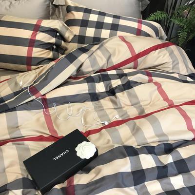 60支长绒棉印花四件套 标准(1.5m床-1.8m床) 桑德拉