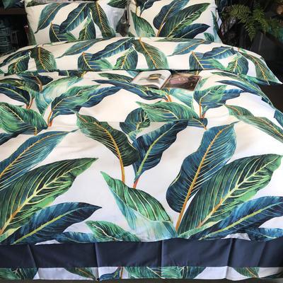 60支长绒棉印花四件套 标准(1.5m床-1.8m床) 克丽丝
